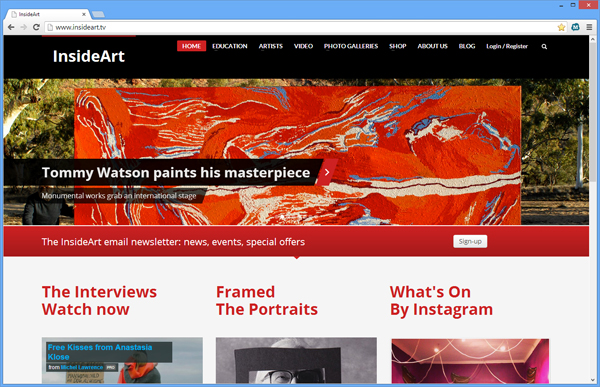 InsideArt website