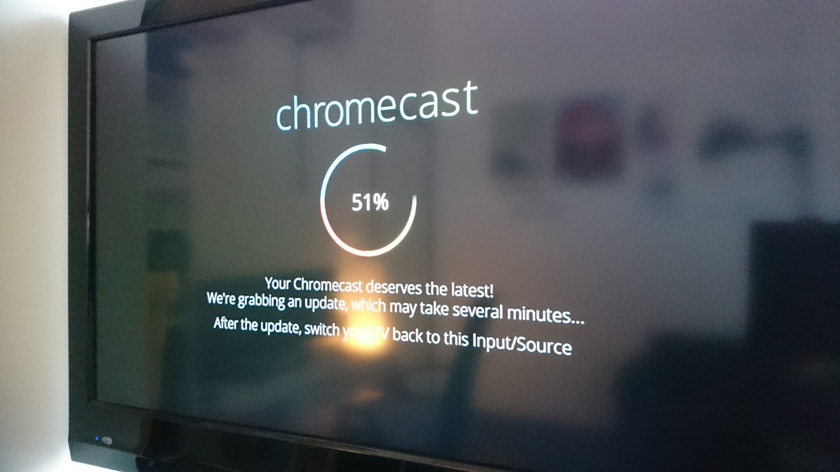 Google Chromecast updates to the latest software